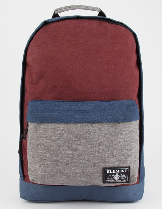 Element Beyond backpack. The Beyond includes a roomy main compartment and a front zip pocket. Internal laptop sleeve. Made from a high grade 600D polyester that was selected for its rugged durability and long lasting wear. Approx dimensions: 16.9 x 11 x 5.1. Imported.