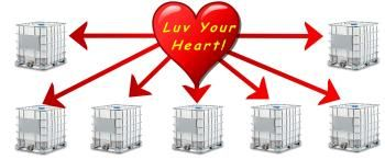 Did you know, your heart pumps the capacity of seven, 1000L (275 gallon) IBC containers each day? #myLot #Health