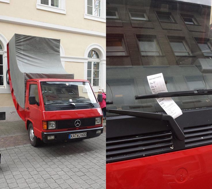 The German City of Karlsruhe Issued a Parking Ticket to a Warped Car Sculpture by Erwin Wurm