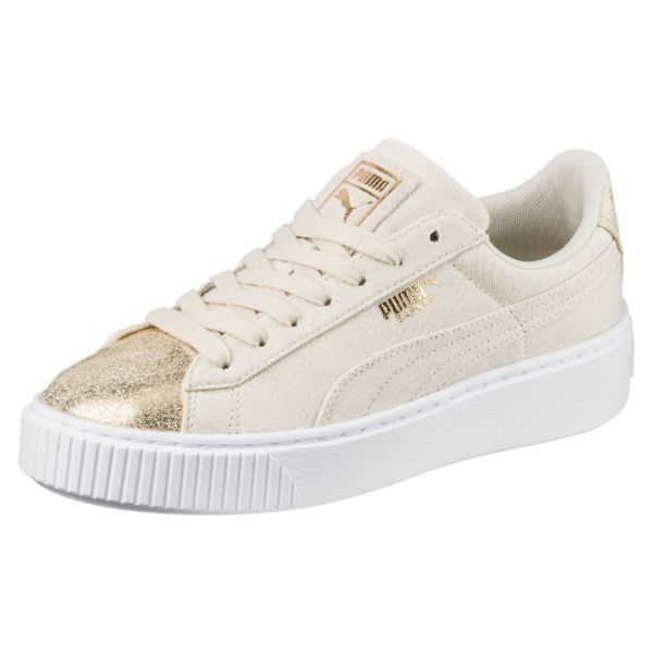 Image 3 of Zapatillas de mujer Basket Platform Canvas en Birch-Puma Team  Gold 1771af652be