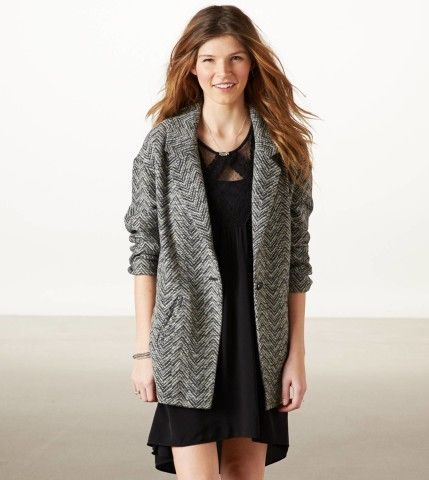 AE Lightweight Wool Blazer | American Eagle Outfitters