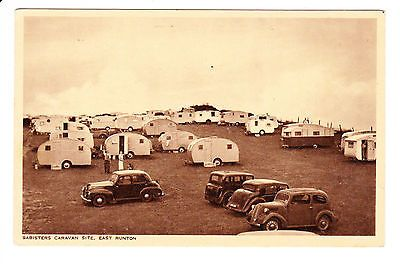 East Runton - Babisters Caravan Site - Old Cars - Old Postcard - Norfolk • £2.99
