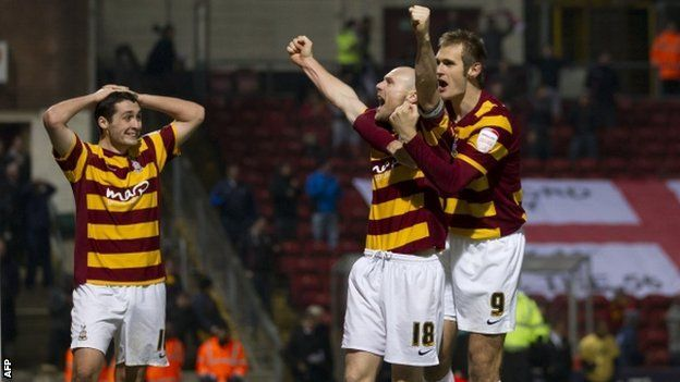 Bradford City pulled off one of the great League Cup shocks with a penalty shoot-out victory over Arsenal in front of an ecstatic home crowd.