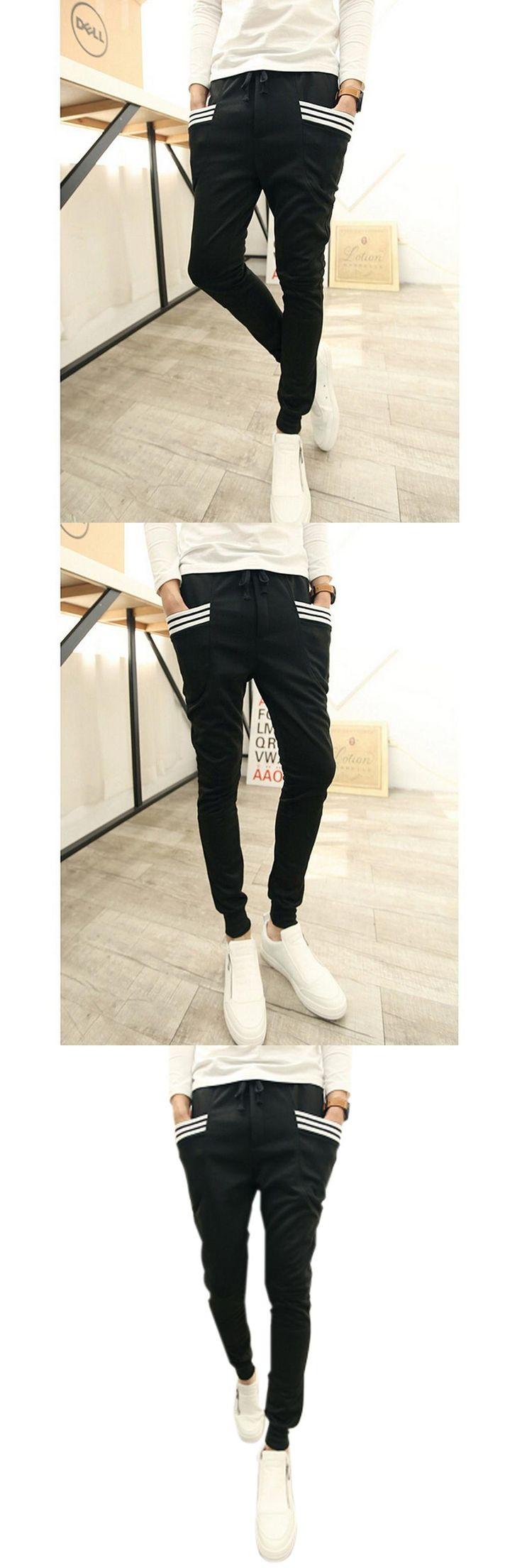 Baggy tapered pant hip hop dance harem sweatpants drop crotch pants men trousers
