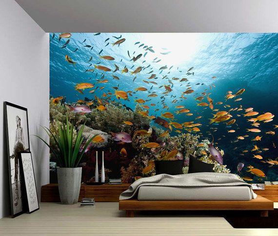 Underwater Fish Ocean World Large Wall Mural By GlowingWallDecor