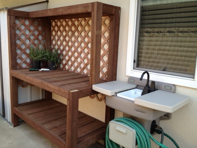 Potting Bench Built For Me By My Husband Plus Outdoor