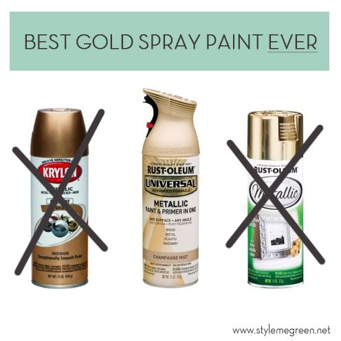 Gold Spray Paint Rating Diy Paint Furniture Inspiration Tutorial