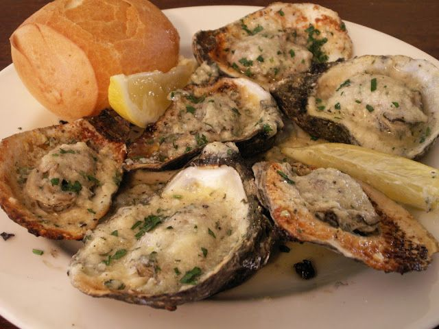 Drago's Style Charbroiled Oysters Recipe | Nola Cuisine. The Sauce:  1 Stick Unsalted Butter, very soft 1 Pinch Kosher Salt 1 tsp Freshly Ground Black Pepper 1 Tbsp Minced Garlic 4 Tbsp Pecorino Romano 1 pinch Cayenne 1 pinch White Pepper 1 Spritz Lemon Juice 1 tsp Minced Italian Parsley. 1 Dozen Large freshly shucked Oysters on the half shell, Pecorino Romano to finish Minced Italian Parsley for garnish Fresh Bread Lemon wedges