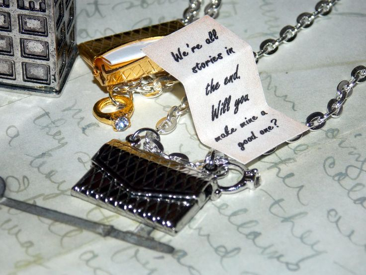 Want to have the best marriage proposal ever?! Surprise a loved one with a fandom love letter created by Splatter Palette!! Choose your favorite fandom quote from the options list and send it in a silver or gold metal envelope necklace. An adorable ring charm dangles on the side. It's the perfect way for us fandom lovers to express our feelings! It's the greatest valentine, anniversary or birthday gift!