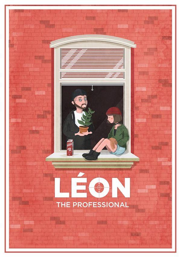 Leon The Professional (1994) ~ Alternative Movie Poster by Maria Suarez Inclan #amusementphile