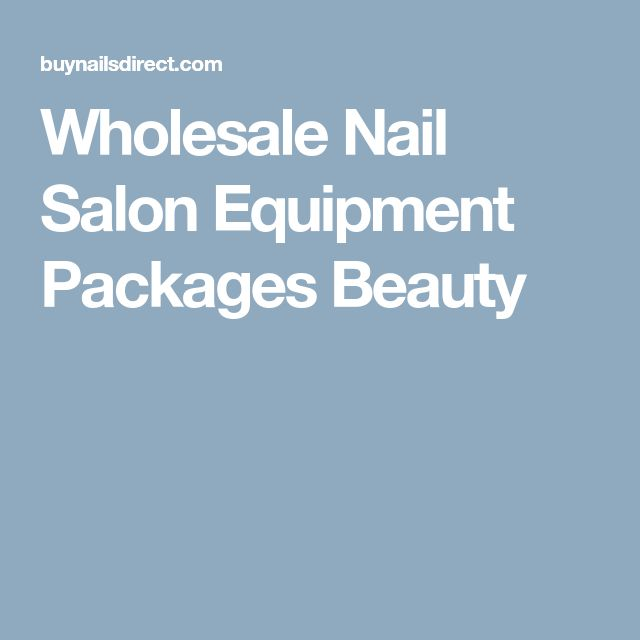 Wholesale Nail Salon Equipment Packages Beauty | nails ...