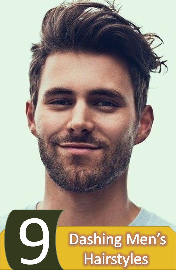 Nine Dashing Men's Hairstyles considering on their face, personality and hair type , what will make you to look smarter, find the best one for you.