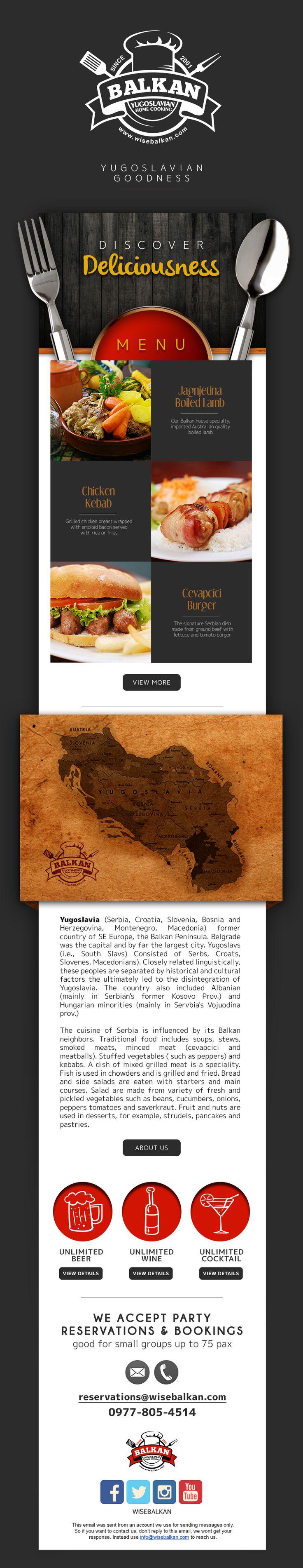 Discover  the Yugoslavian Goodness.