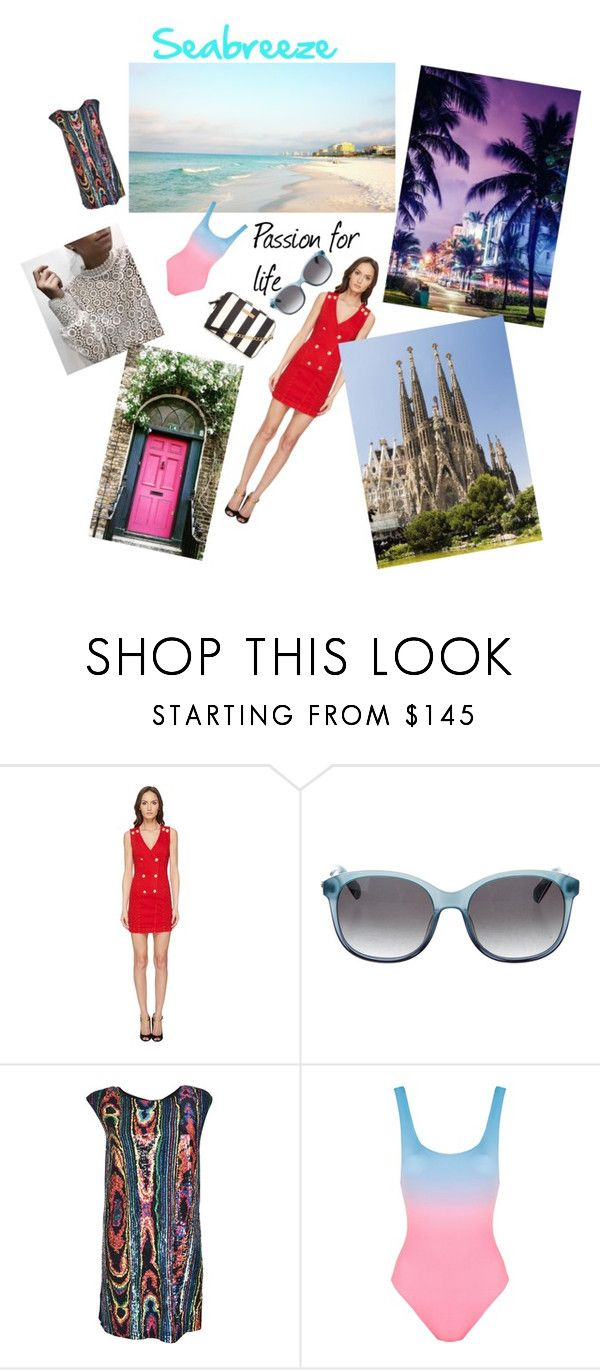 """Summer, city and sea with love"" by tone-sjoberg-fossum on Polyvore featuring Pierre Balmain, Balmain, Solid & Striped, By Charlotte and Gaudì"