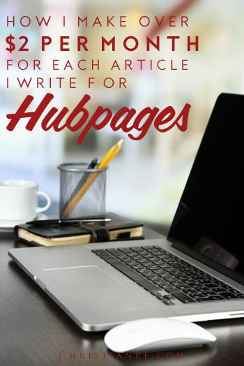 Make money writing for Hubpages