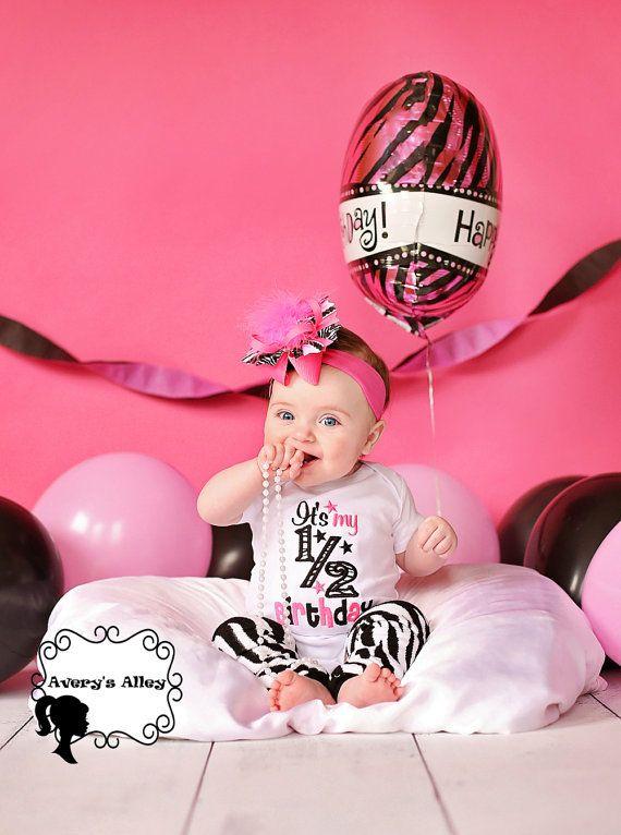 It's my 1/2 Birthday  Girls Half Birthday Zebra by AverysAlley1, $30.00