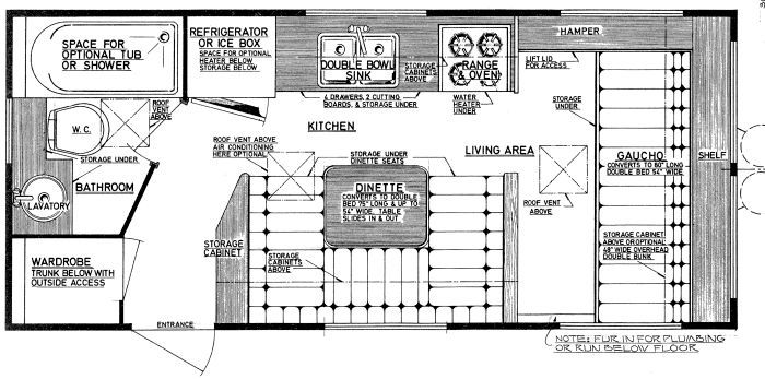 this is a cool site that has plans to build your own rv  niagra trailer floor plan