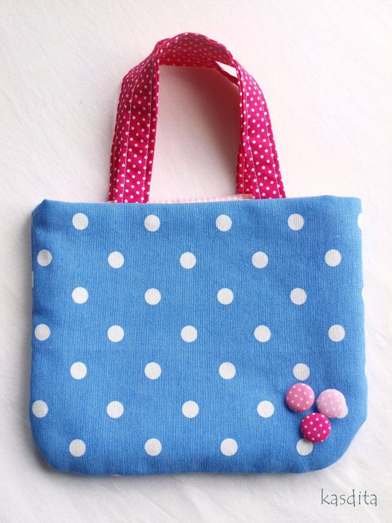Small dotted bag for girls by kasdita on Etsy