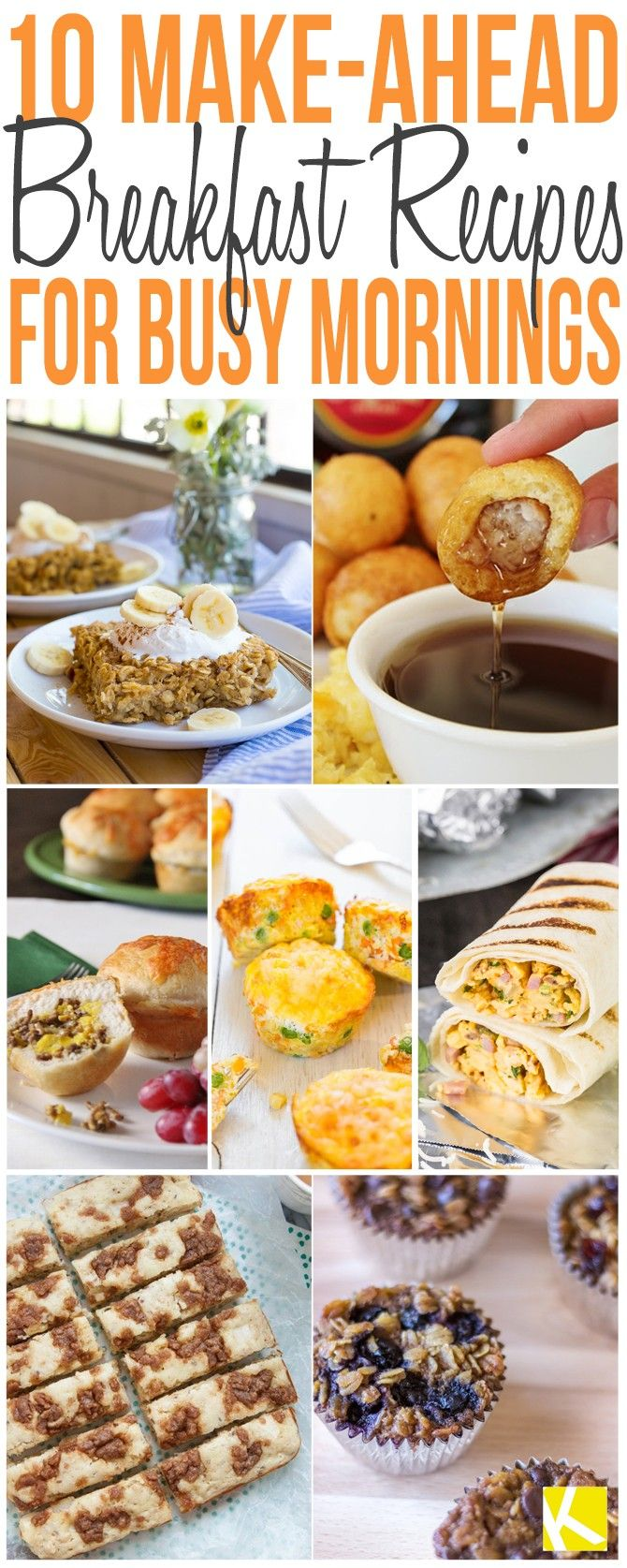 10 Quick and Easy Make-Ahead Breakfast Recipes