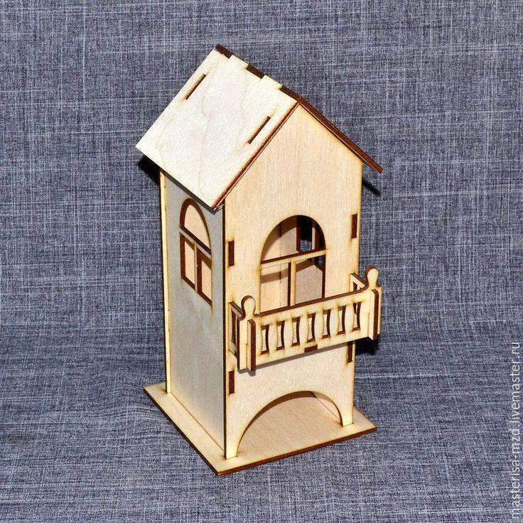 Купить ЧД-04-005 Заготовка для декупажа чайный домик с балконом - бежевый, чайный домик