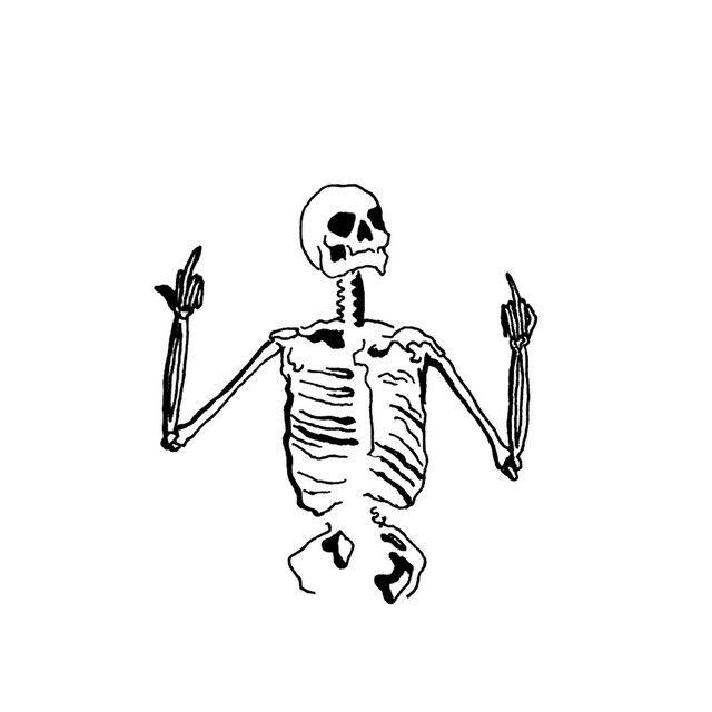 Download Wallpaper 800x1280 Skull, Fingers, Black, White, Bone .