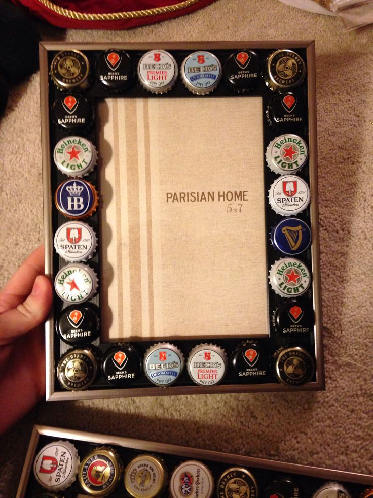 95 best beer diy images on pinterest beer caps bottle for Beer bottle picture frame