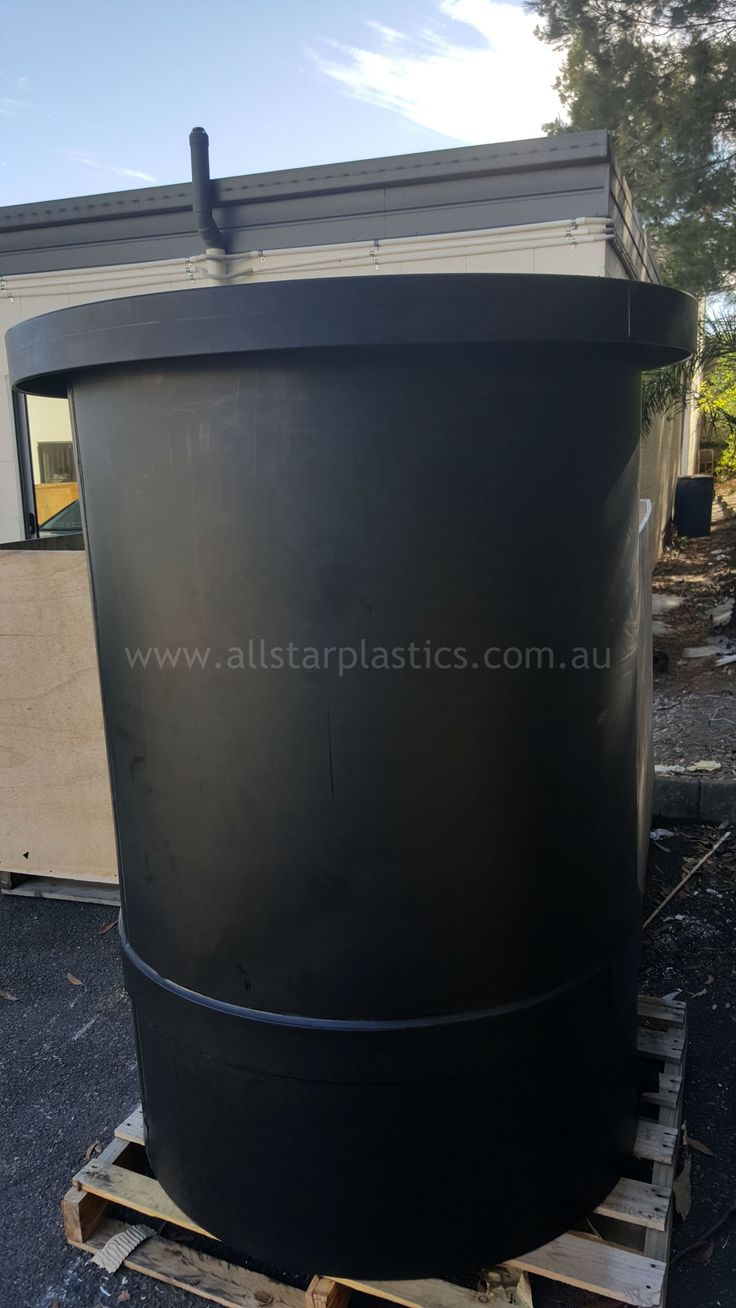 Large HDPE tanks manufactured for chemical storage 1120mm x 1650mm.