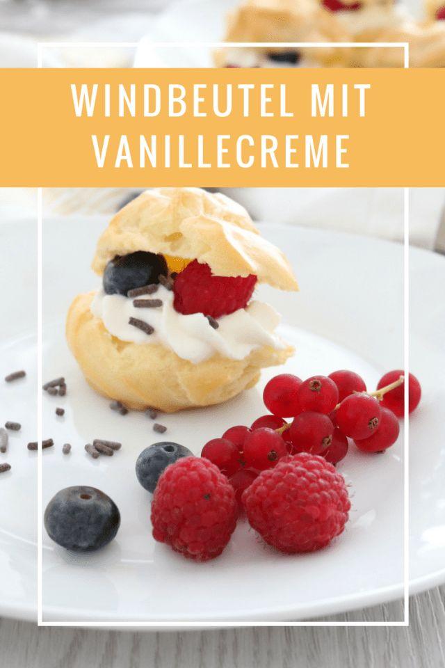 Windbeutel mit Vanillecreme