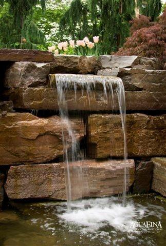 beautiful water feature - love those rocks  Photos, Gardens Ideas, Water Features, Features Design, Backyards Retreat, Backyards Water, Backyards Ideas, Landscapes, Backyards Beautiful