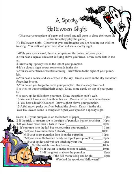 a spooky halloween game halloween stories for kidsclass
