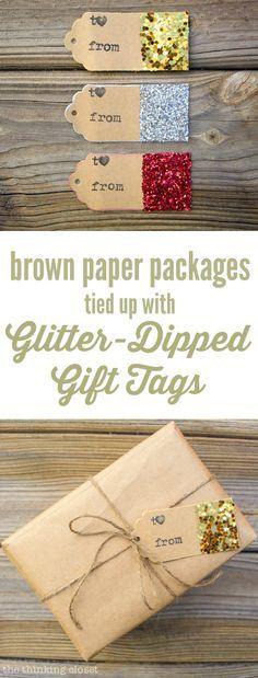 Glitter-Dipped Gift