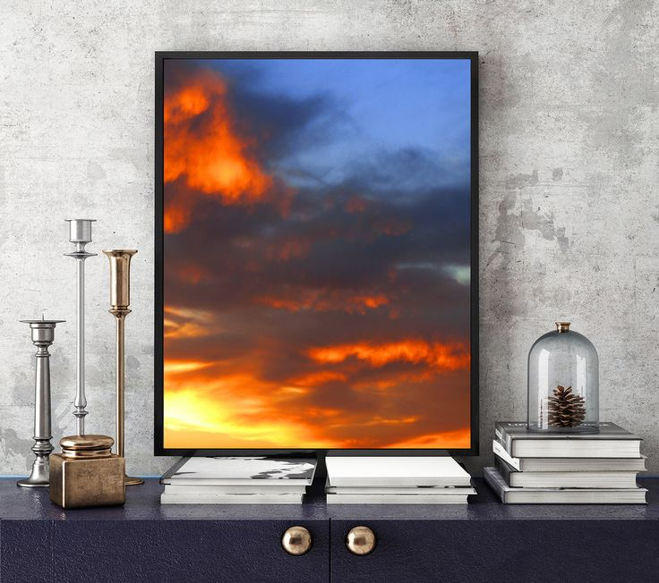 #11x14 #Print, #Sunset #Photography, #Printable, #Minimalist #Print, #Sky #Overlay #Photography, #Cloud, #Dramatic #Sky, #Sunset #Sunrise #Clouds #SunsetPrint, #FireSky, #WallArt #OfficeDecor #OfficeArt #Interior #Decor