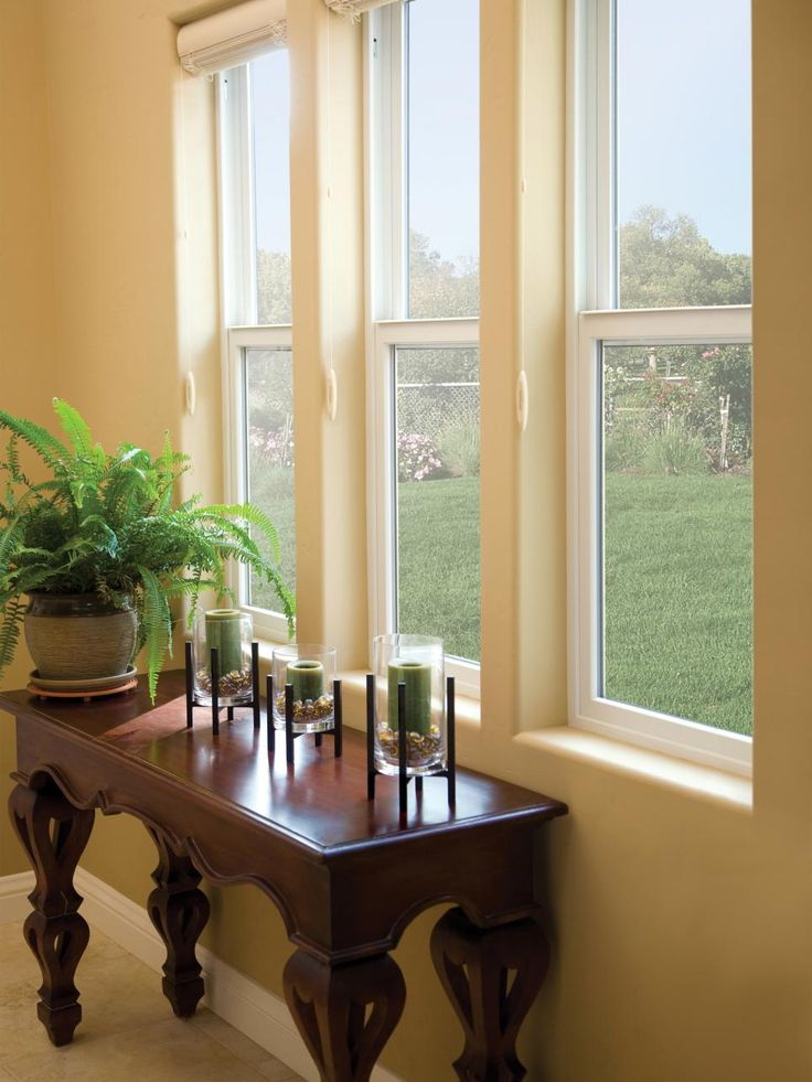 Advantages: They're less expensive than double-hung windows, but have almost identical curb appeal value. There's no problem with slippage since they only open from the bottom. Disadvantages: Single-hung windows don't allow the same type of natural air circulation that a double-hung unit can provide. Image courtesy of Andersen Windows (andersen.com)