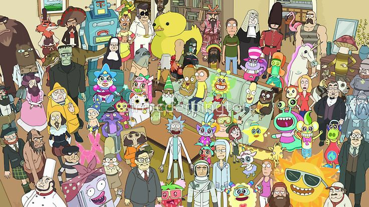 Zany Characters - Rick and Morty
