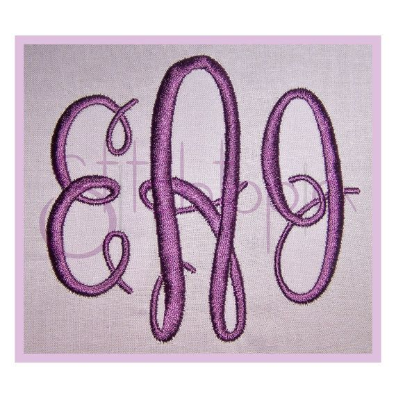 "Classic Oval Monogram Set - 2"", 3"", 4"" - Left, Right & Center for Each Letter"