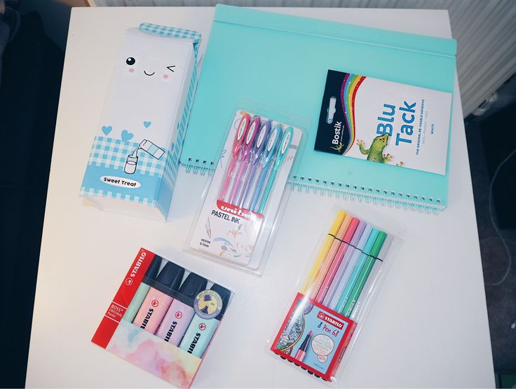 School Supplies (Pastels) flatlay