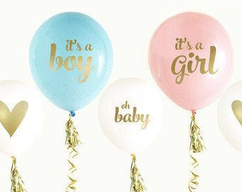 Keep them guessing at your gender reveal party with these balloons. Perfect for dressing up the dessert table, as a backdrop or at the entrance. #genderreveal #babyshower #genderrevealideas #babyshowerideas