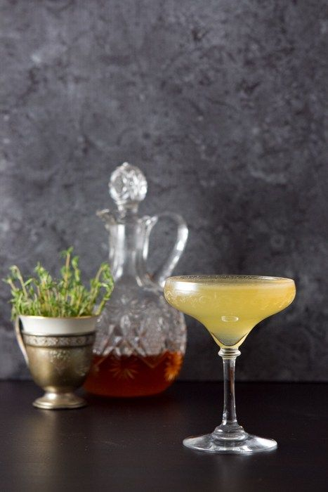 Bee's Knees with Thyme Syrup