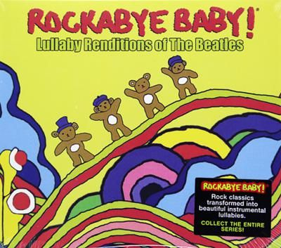 """Rockabye baby! Lullaby Renditions of the Beatles. If you're singing """"here comes the sun"""" before your tiny mop top stops crying, forget love - sleep is all you need. Try our lullaby renditions of beloved Beatles songs to take that sad song and make it better. All your troubles will seem far away when you hear the sweet sound of golden slumbers.Featuring lullaby renditions of: Yesterday, Across the Universe, Hey Jude, Yellow Submarine... and more!"""