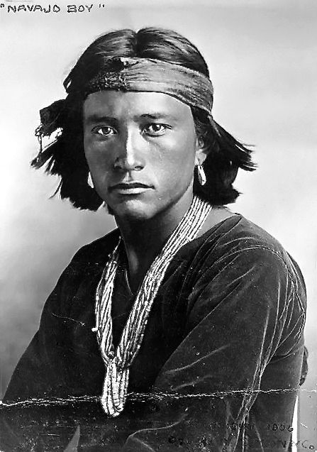 Navajo Man, 1906 Young Navajo, by the famous nineteenth-century American photographer Edward S. Curtis.