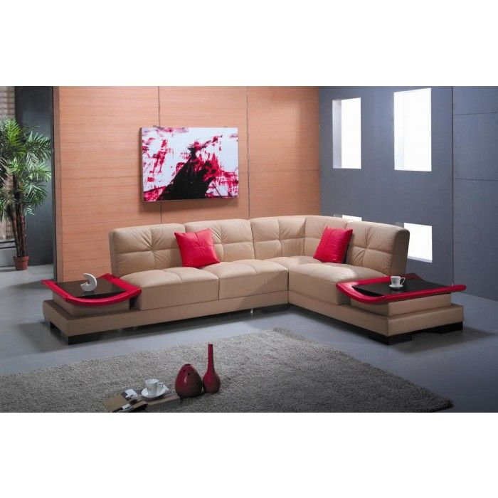 EV 3336 Contemporary Leather Sectional Sofa