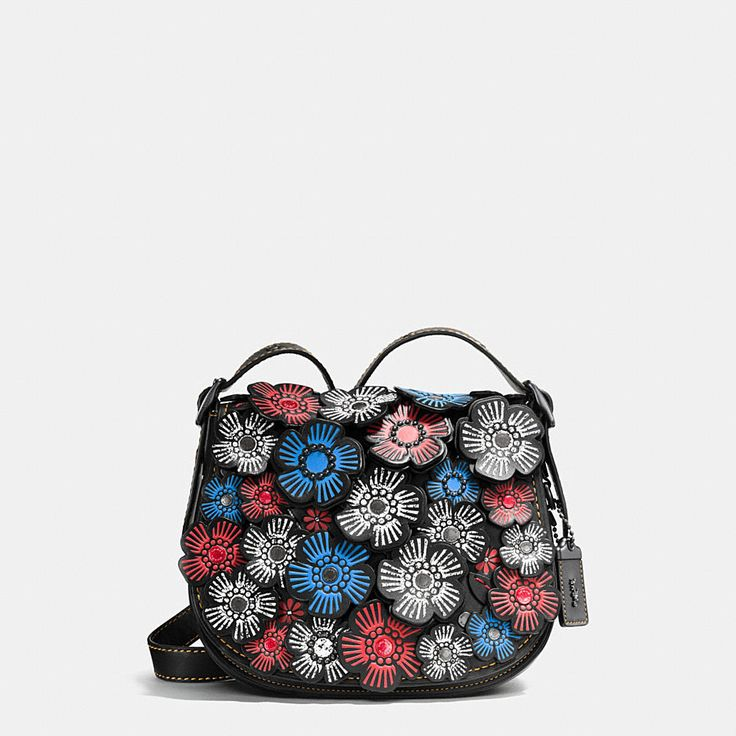 Shop The COACH Tea Rose Applique Saddle Bag 23 In Leather. Enjoy Complimentary Shipping & Returns! Find Designer Bags, Wallets, Shoes & More At COACH.com!