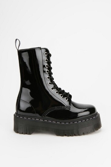 Aggyness Deyn for Dr. Martin boot in black