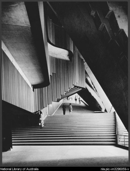 Sievers, Wolfgang, 1913-2007. [Stairs inside the] Sydney Opera House, Sydney [ca. 1973] [picture]