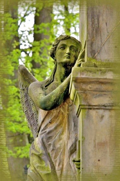 Cemetery angel statue