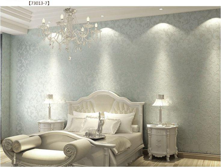 Walpaper Vintage European Silver Non Woven Bedroom