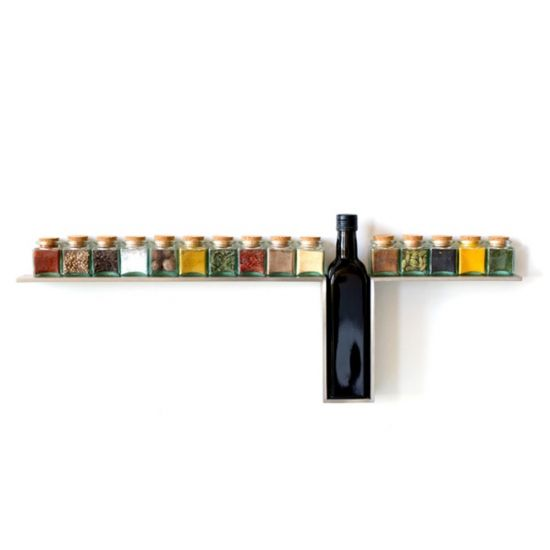 DESU DESIGN 1-Line Spice Rack - Magazine Racks - Home Accessories - Category
