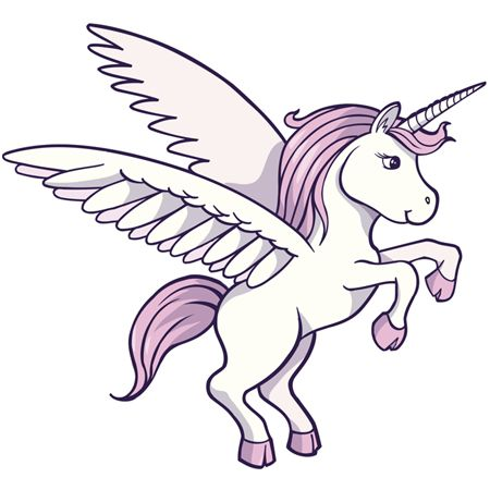 draw cartoon unicorn with wings step6 Cartoon drawings