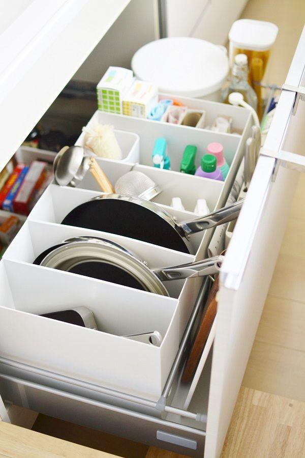 愛用のフライパン と 無印を使ったキッチン収納 収納 キッチン リフォーム Diy キッチンアイデア
