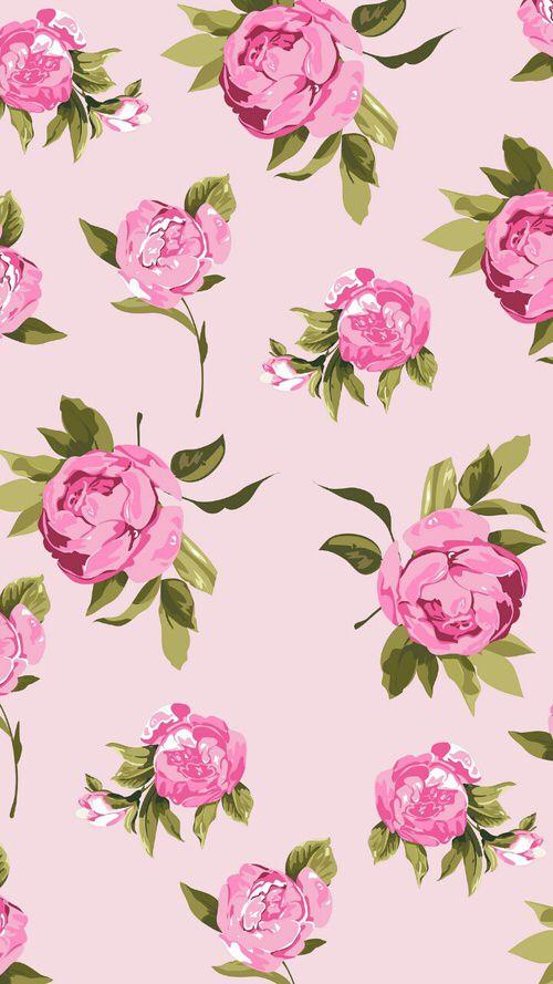 ¡Fondo con estampado de flores vintage, perfecto para ti!